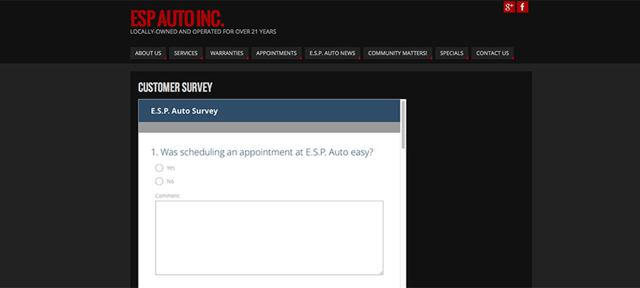Take our Customer Satisfaction survey!